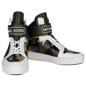 New Michael kors trent high top metallic leather